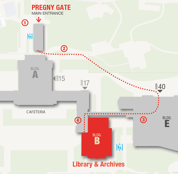 Library Access Map