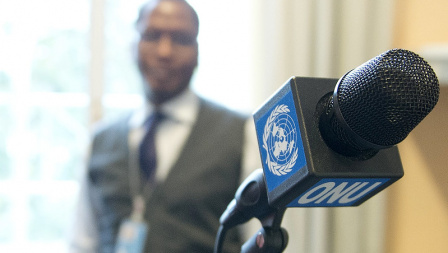 united nations radio microphone