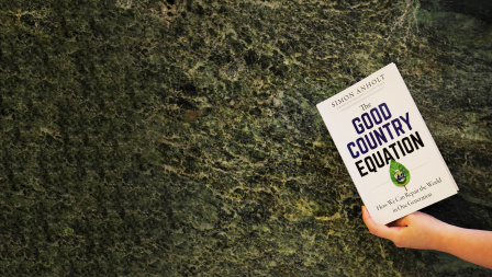 The cover of the book The Good Country Equation by Simon Anholt