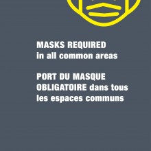 Mask required in all common areas