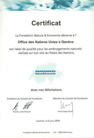 Certificate Nature and Economie