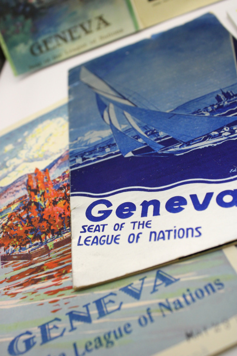 'Seat of the League of Nations' flyers and brochures.